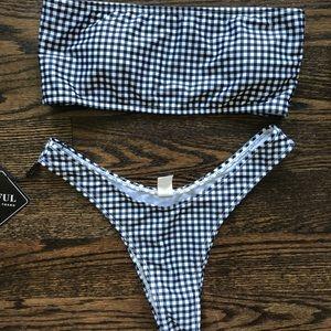 Zaful gingham bikini size medium